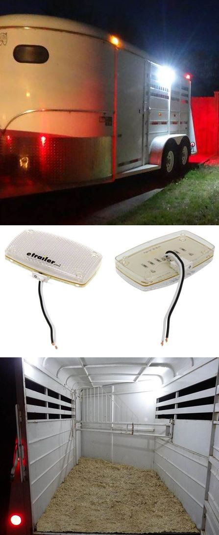 Light up the interior or exterior of your horse trailer bight with LED dome lights.  They give off so much light, you'll be amazed!