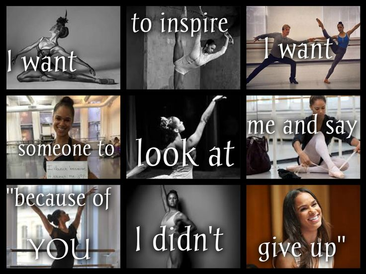 """Misty Copeland!! My edit @PointeDoll15 // I want to inspire, I want someone to look at me and say """"because of you I didn't give up"""""""
