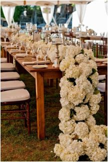 Hydrangea Table Garland