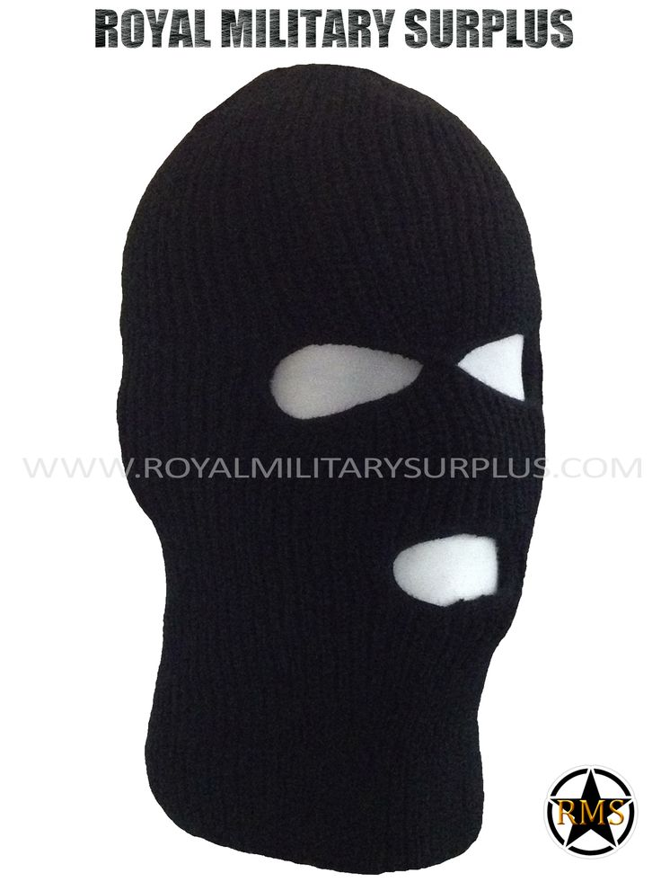 This BLACK Tactical Military Balaclava / Hood is in use by Canadian Forces. Made following Military Specifications (3 Holes Face Mask). All items are brand new and available. In use by Army, Military, Police and Special Forces of International Forces. Visit our Website at www.royalmilitarysurplus.com