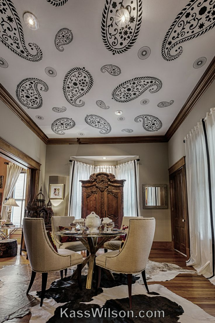 16 best cutting edge stencils inspiration images on pinterest stencil on ceiling adds pattern camouflages imperfections and gives a contemporary amipublicfo Image collections