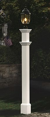Enlighten a driveway or sidewalk with our Portsmouth Lamp Post.