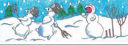 art- Sněhuláci 2016 (snowmen)