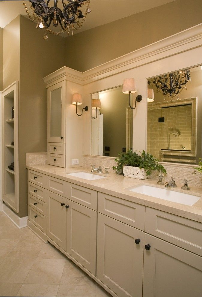 Houzz Bathroom Lighting Contemporary with Wood Cabinets Traditional Bath Towels