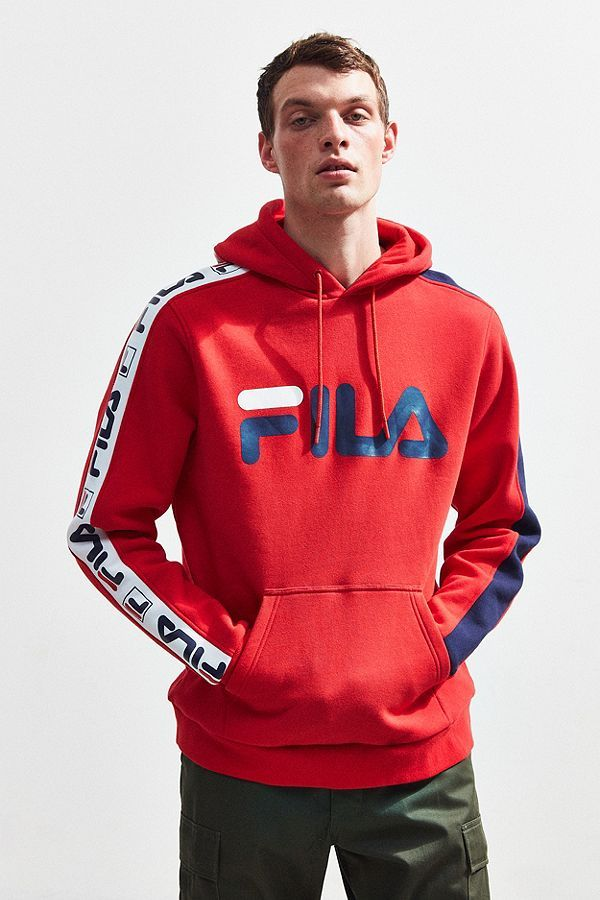 FILA Fifty Fifty Hoodie Sweatshirt | Stylish mens outfits