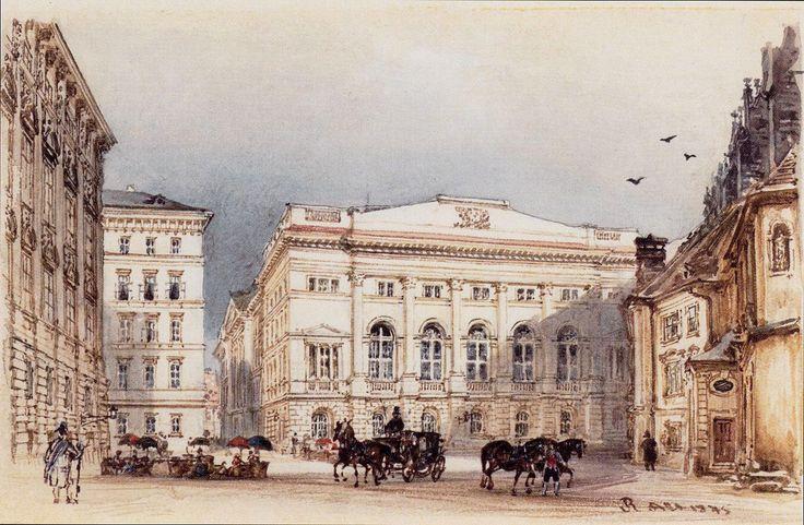 The Lower Austrian Landhaus in Vienna from Minoritenplatz by Rudolf von Alt…