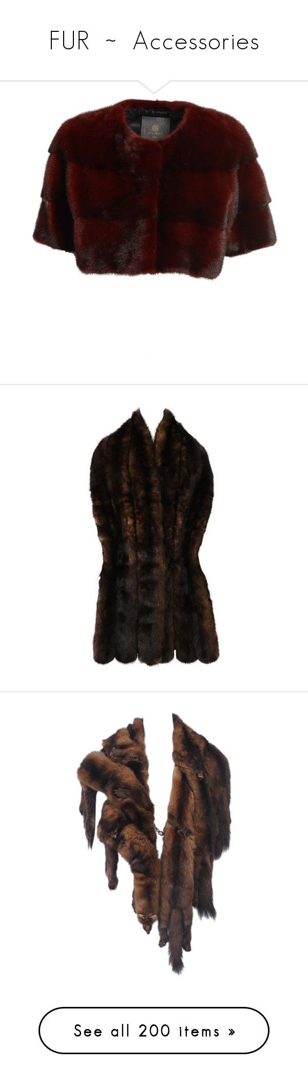 """""""FUR  ~  Accessories"""" by kuropirate on Polyvore featuring outerwear, coats, red, red mink coat, mink fur coat, mink lined coat, red coat, fur-lined coats, accessories and scarves"""
