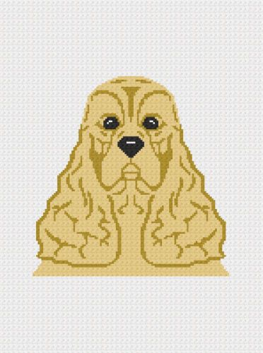 Cocker-Spaniel-Dog-Crochet-Pattern-Afghan-Graph