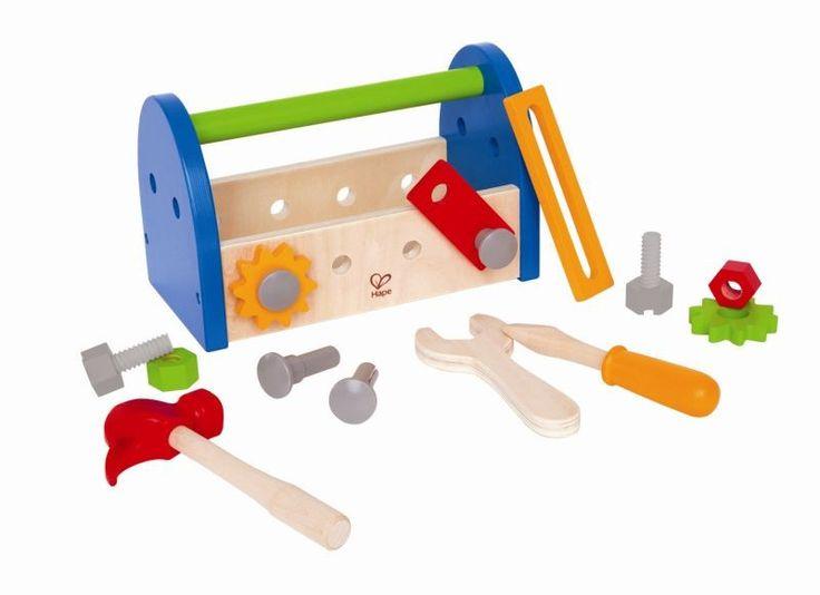 Il gioco di imitazione è importante e prezioso per la crescita: ecco una vera #cassetta degli attrezzi in legno con tanti pezzi per ingegnarsi e mettersi alla prova!