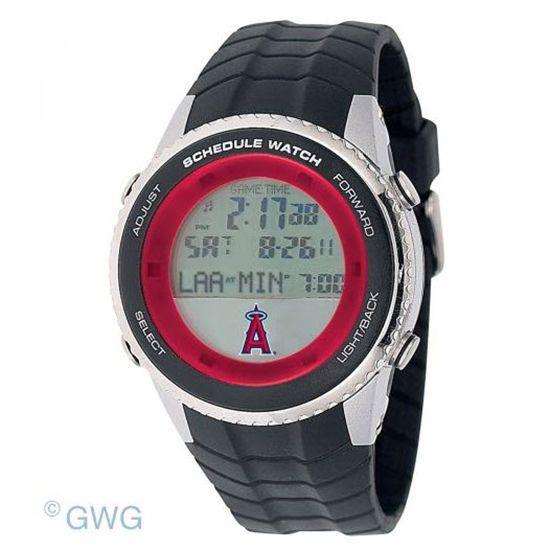 Los Angeles Angels Game Time MLB Schedule Digital Black Men's Watch