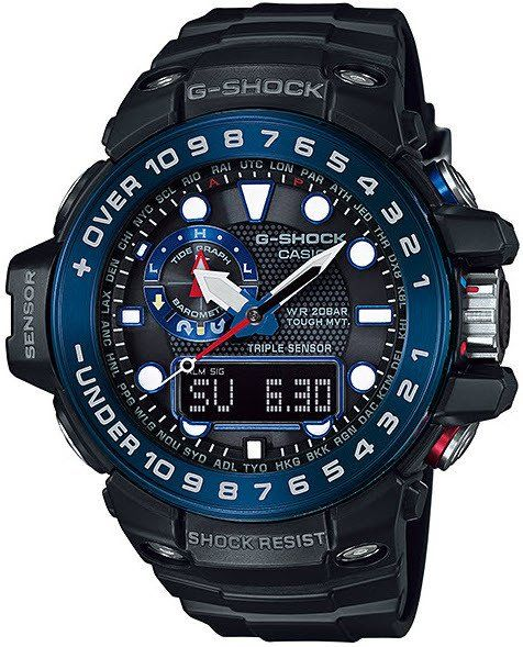 G-Shock Watch Gulfmaster Alarm Chronograph Mens #add-content #alarm-yes #bezel-fixed #black-friday-special #bracelet-strap-synthetic #brand-g-shock #case-depth-16-2mm #case-material-steel #case-width-55-8mm #chronograph-yes #classic #comparison #date-yes #day-yes #delivery-timescale-1-2-weeks #dial-colour-black #flyback-yes #gender-mens #keep-reduced #moon-phase-yes #movement-solar-powered #new-product-yes #official-stockist-for-g-shock-watches #packaging-g-shock-watch-packaging…