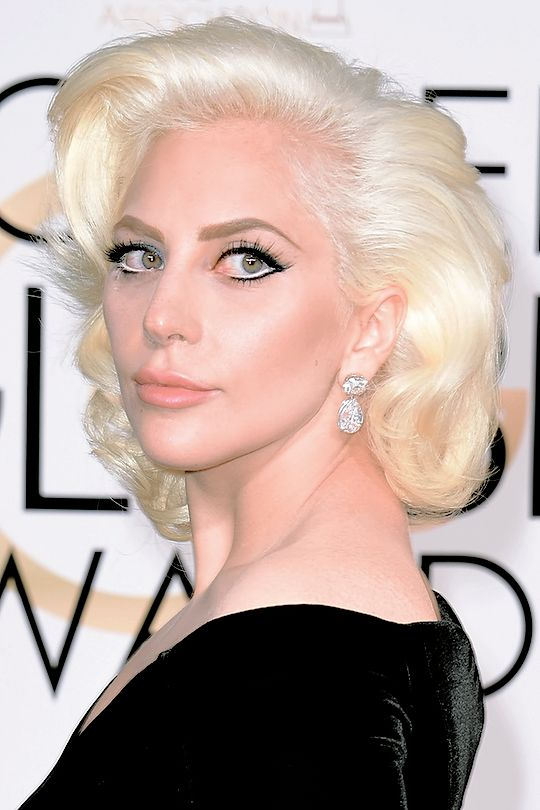 Lady GaGa at the Golden Globe awards - January 10th 2016