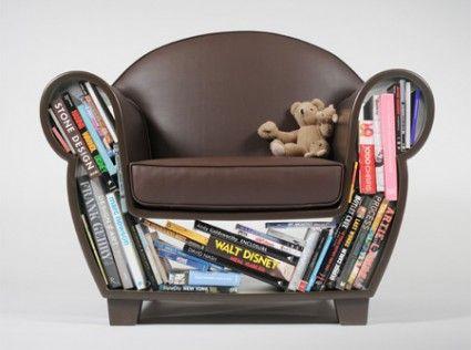 Reading chair: Chair Design, Bookshelf Chair, Bookcase Chair