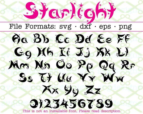 Star Letters Svg Dxf Eps Png 62 Files Starlight Letters Numbers Kids Font Letters Fancy Letters Svg Fi Lettering Fonts Lettering Hand Lettering Fonts