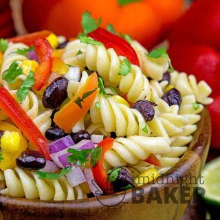 This southwestern pasta salad is so hearty it can also double as a main. Southwestern Pasta Salad: A Side Or A Meal It's summer so I'm very into pasta salads! My go-to recipe is my Loaded Pasta Salad, but I love trying something new and thinking outside the box. While it's true that pasta salad...Read More »