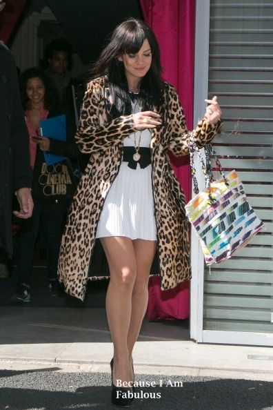 Fabulously Spotted: Lily Allen Wearing Burberry Prorsum & Chanel - Out & About Paris - http://www.becauseiamfabulous.com/2014/04/lily-allen-wearing-burberry-prorsum-chanel-out-about-paris/