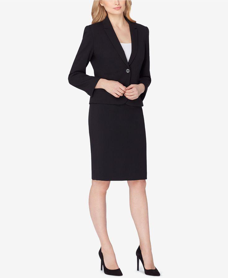 Tahari ASL Single-Button Skirt Suit - Suits & Suit Separates - Women - Macy's