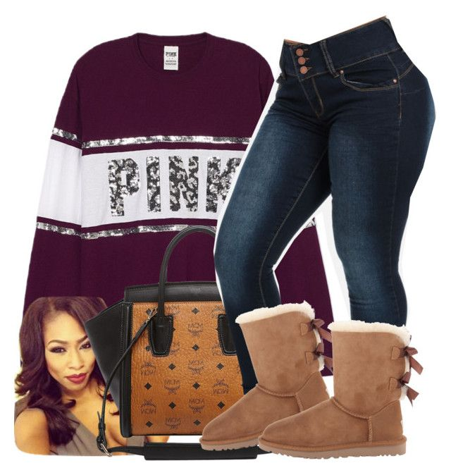 """""""Untitled #631"""" by chynaloggins ❤ liked on Polyvore featuring MCM and UGG Australia"""