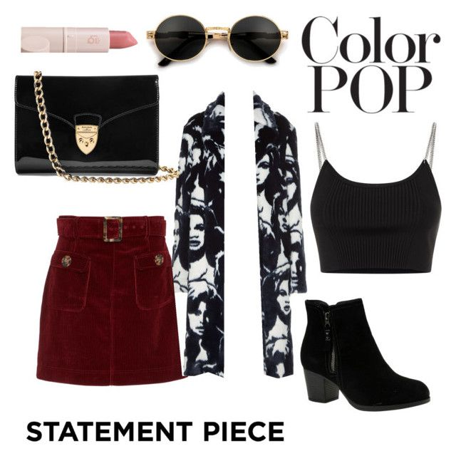 """""""Statement Piece"""" by maddy-s8674 on Polyvore featuring AlexaChung, STELLA McCARTNEY, Alexander Wang, Aspinal of London, Lipstick Queen and Skechers"""