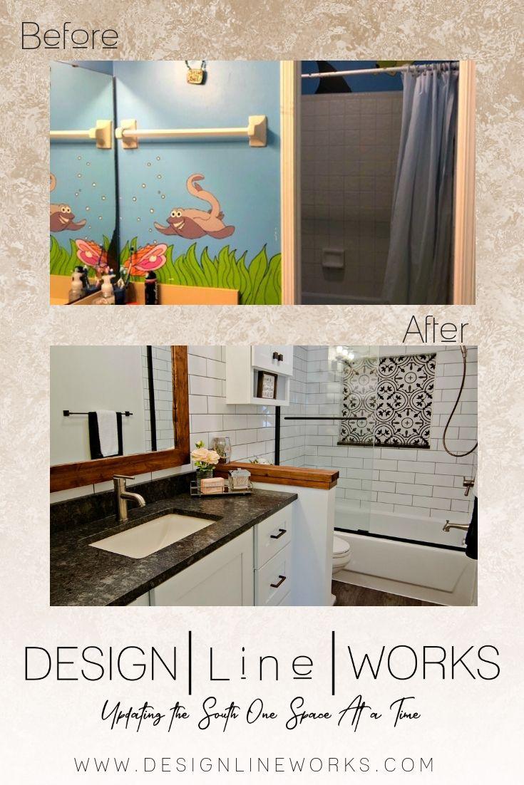 A Farmhouse Chic Bath Remodel By Debra James Of Design Line Works
