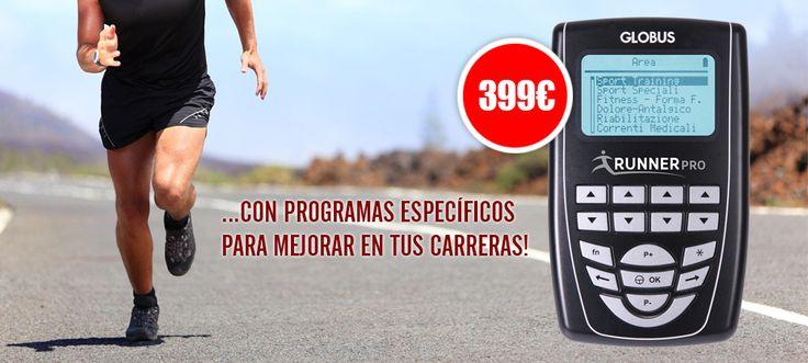 Si te gusta salir a correr y quieres mejorar tus prestaciones... no lo dudes! Conoce el nuevo electreostimulador Runner Pro de Globus! https://www.fitnessybienestar.com/electroestimulador-globus-runner-pro/