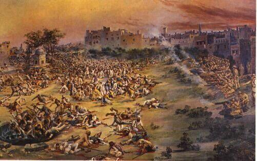 Jallianwala Bagh massacre, 1919. 1500 murdered.  #CrimesOfBritain