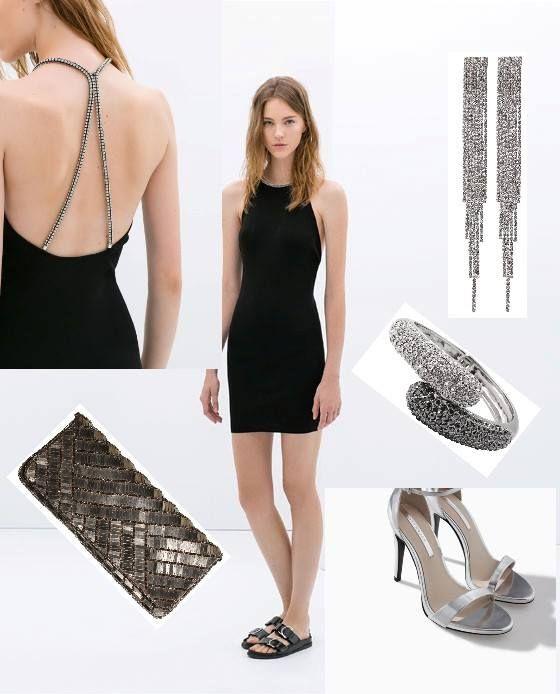 """Look """"Black and Silver"""", sexy y elegante."""