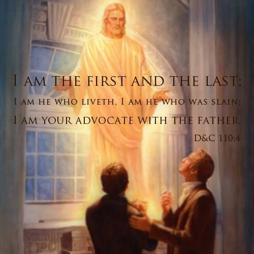 The Lord appearing in the temple to the Prophet Joseph Smith http://facebook.com/217921178254609