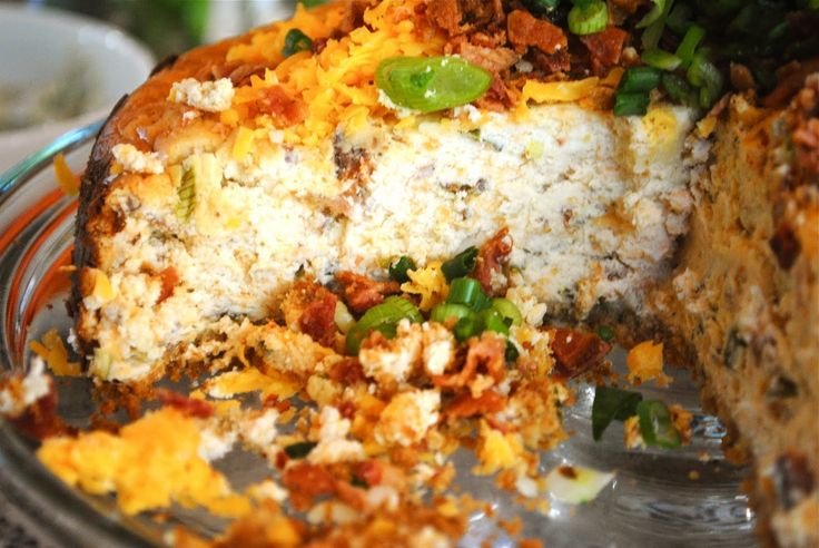 Cheddar, Bacon and Chive: SAVORY Cheesecake