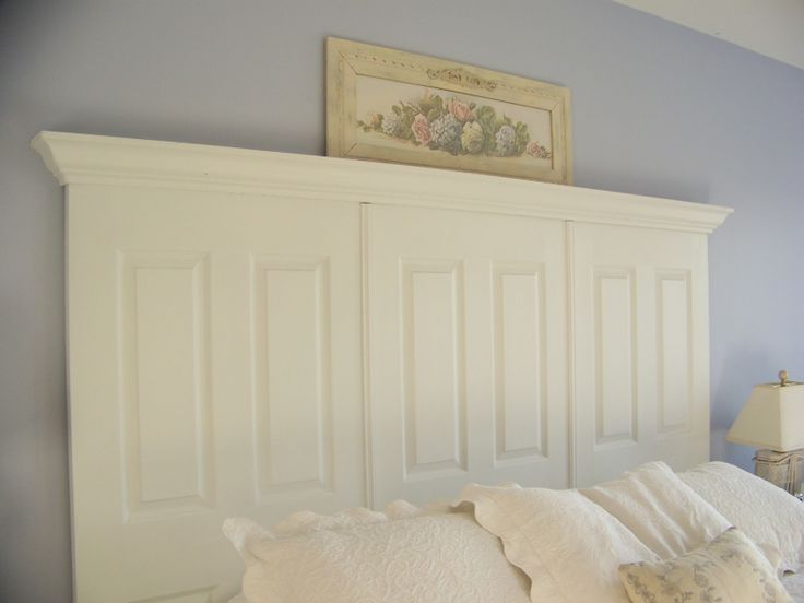 Headboard made out if 3 home depot doors and some trim.like!!