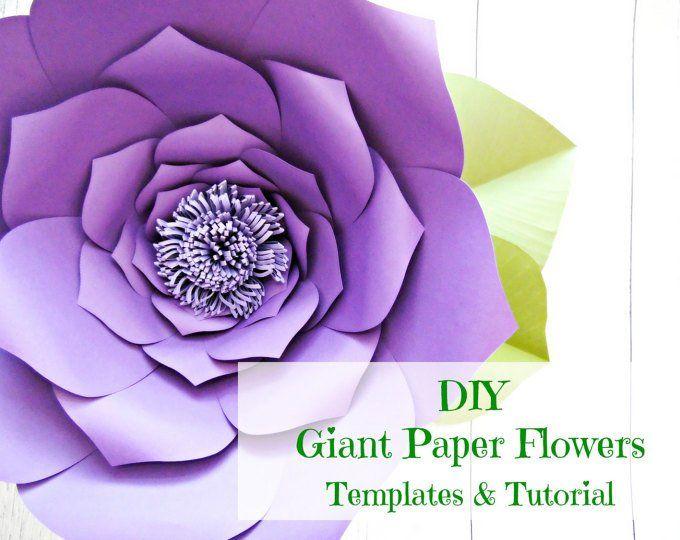 Pdf Printable Paper Flower Templates Giant Paper Flower Wall Diy