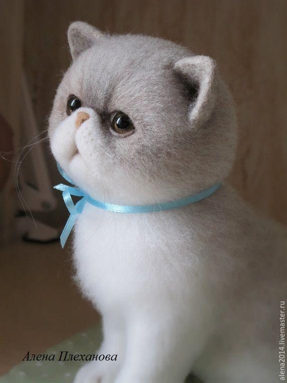 Купить Маруся - белый, котик, котенок, котенок из шерсти, котенок игрушка, кот, кошка