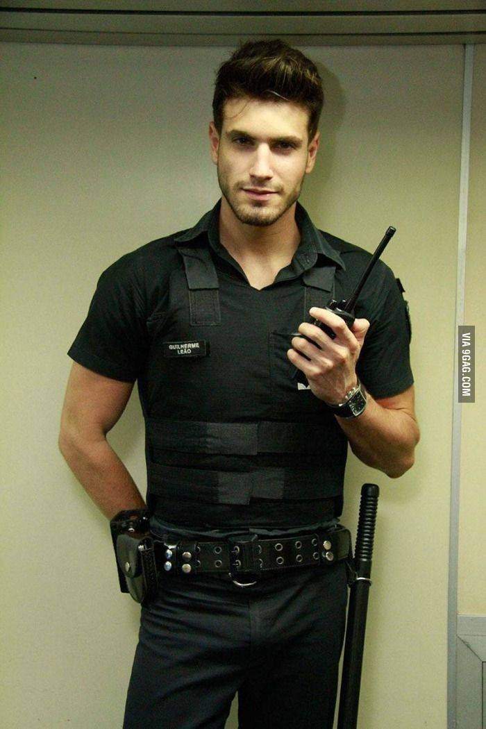 "In response to ""Just a random police officer in Spain"", meet Guilherme Leão , just a random police officer in Brazil"