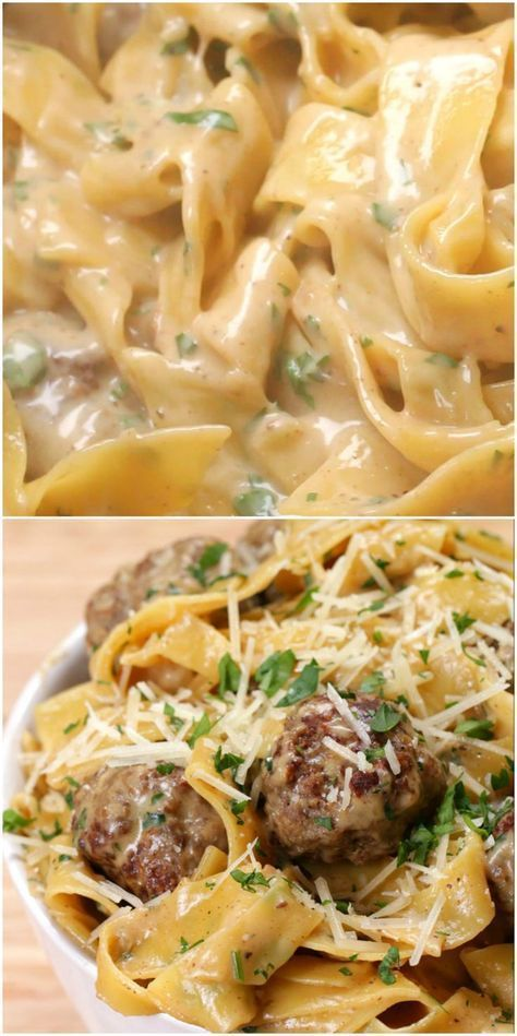 Stew Swedish meatballs pasta