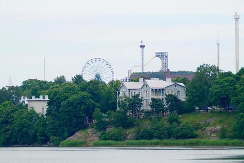 Amusement Park Linnanmäki, Helsinki, Finland, June 2017