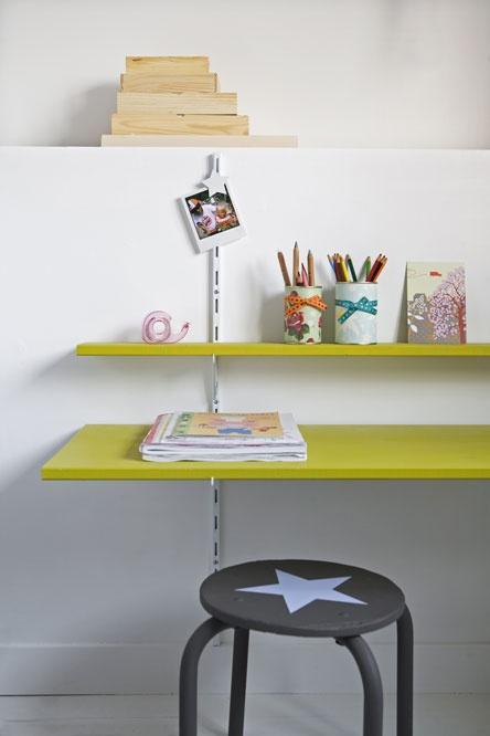 shelf as work desk