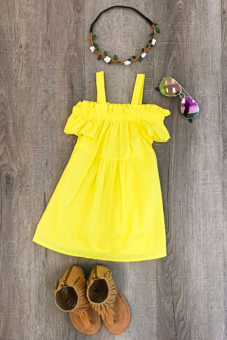 Yellow Off-Shoulder Dress