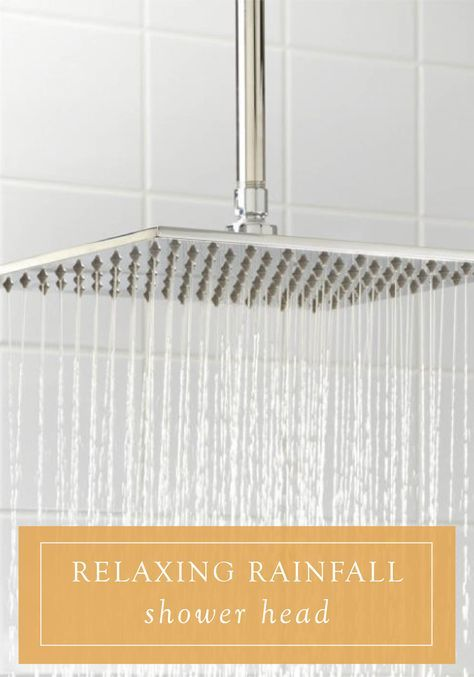 Make your bathroom more luxurious with a rainfall shower head. Perfect as an update for a small space or stand-up shower, this upgrade will create a soothing, spa-like experience in your home.