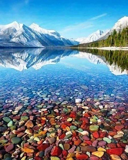 Lago McDonald en Montana EEUU.
