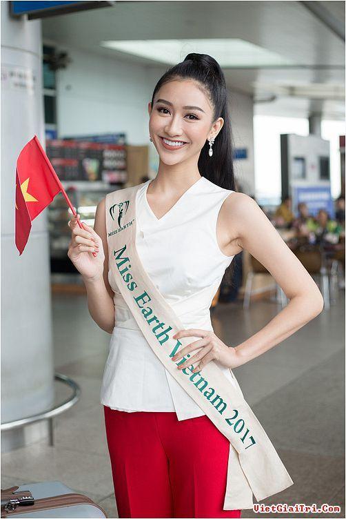 Nam Em Top 8 Hoa hậu Trái đất 2016 xuất hiện tiễn Hà Thu lên đường sang Philippines chinh chiến quốc tế!  Sao Việt | Tin tức giải trí