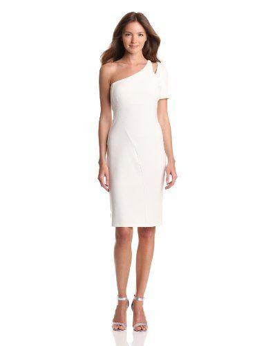 HALSTON HERITAGE Women's One Sleeve Dress With Shoulder Cut Out, Off White, 10 Halston Heritage, http://www.amazon.com/dp/B00BBU6R46/?tag=pinterest0e50-20