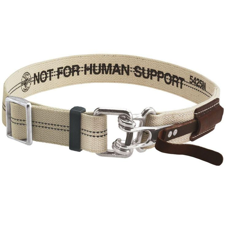 Klein Tools X-Large Beige Cotton/Polyester Blend Tool Belt with Quick-Release Buckle, Size: XL