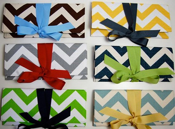 Shoply.com -Bridesmaids Clutches in Carnival Chevron Mix. Only $270.00