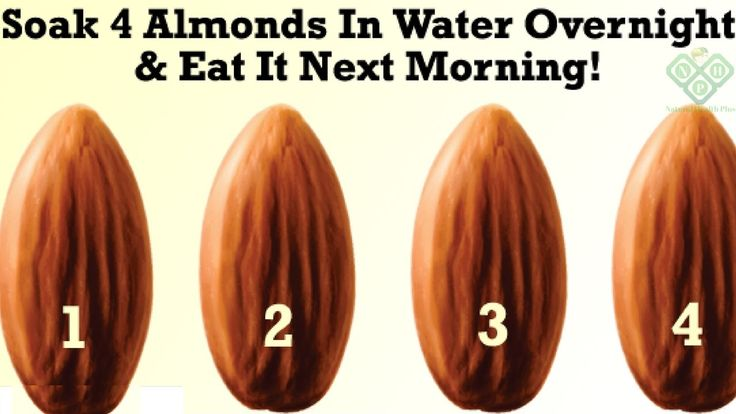 Soak 4 almonds in water overnight and eat it next morning! Amazing thing...