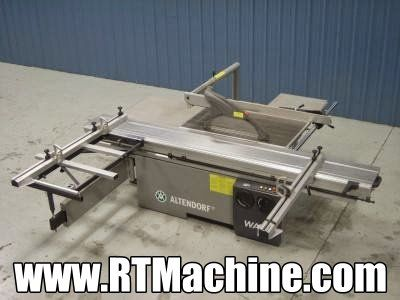 Used Altendorf Model WA8 Sliding Table Saw for sale at www.RTMachine.com   -  RT Machine Company is Your Source for Woodworking Machinery!