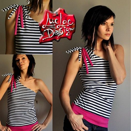 LucLac / asymetric stripe top