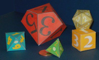 Tektonten Papercraft - Free Paper dice templates. Making 10 sided dice for a math lesson next week