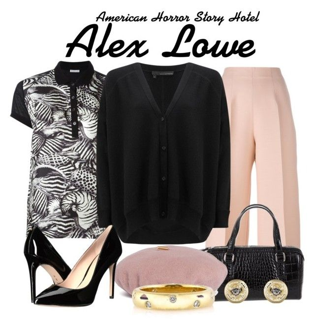 Ahs Hotel by sparkle1277 on Polyvore featuring polyvore, fashion, style, 360 Sweater, Moncler, Fendi, BCBGeneration, NOVICA, Mark Broumand, Tate, Janessa Leone and clothing