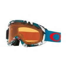 Oakley O Frame 2.0 XS Snow Goggle Shady Trees Blue Red frame / Persimmon lens
