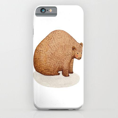 Brown Bear iPhone & iPod Case Brown, bear, illustration, watercolour